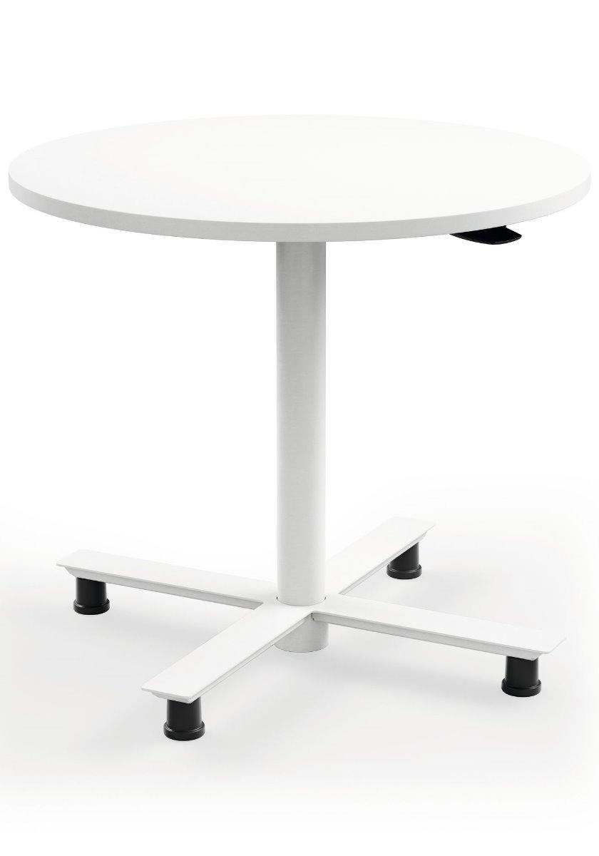 Staand vergaderen met een pneumatische zit-sta tafel
